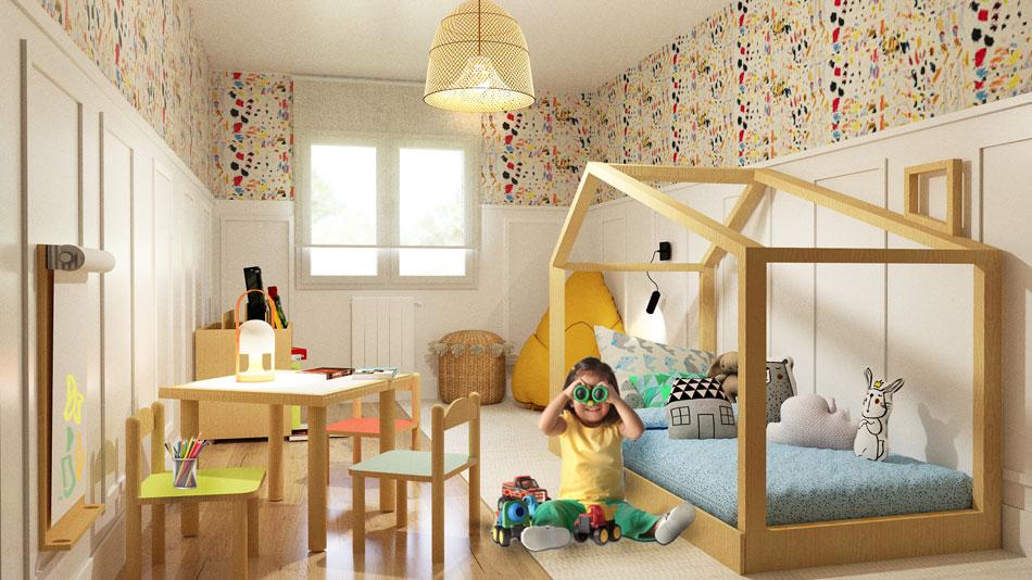 2D Habitación Montessori